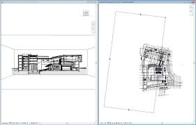 floor plan and perspective view tiled with the section box visible