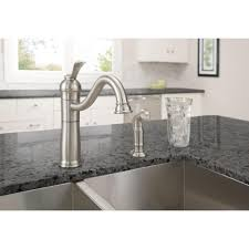 Low Arc Kitchen Faucet Moen Banbury Single Handle Standard Kitchen Faucet With Side