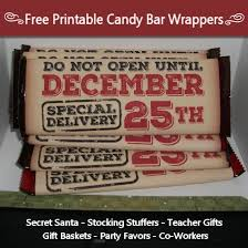 You can customize and personalize gifts with our sweet free printable candy bar wrappers. Christmas Candy Bar Wrapper Free Printable Tip Junkie