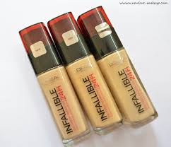 l u0026 39 oreal paris infallible reno liquid foundation review swatches