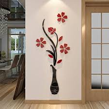 Small Picture Amazoncom 3d Vase Wall Murals for Living Room Bedroom Sofa