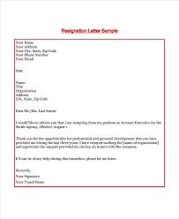 Brief Letter Of Resignation 11 Short Resignation Letter Templates Free Sample