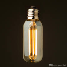 vintage led long filament light bulb 6w 2200k gold tint edison t45 tubular style decorative lighting dimmable decorative led bulbs chandelier led bulbs from