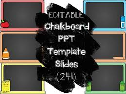 Chalkboard Ppt Theme Chalkboard Powerpoint Template Teaching Resources Teachers Pay