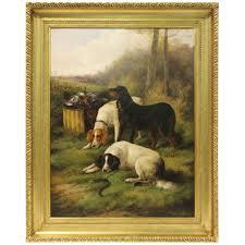 framed oil landscape study dog paintingsmodern paintingspainting frames vintage