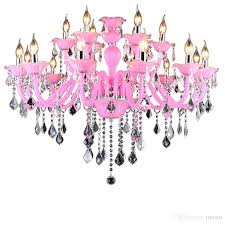 crystal chandelier girls room fancy purple color and crystal material modern crystal chandelier lighting with lampshades