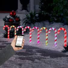 Outdoor Christmas Candy Cane Decorations LightShow Collections Of Spectacular AppLights LED Light Displays 49