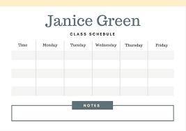 College Class Scheduler Customize 2 722 Class Schedule Templates Online Canva