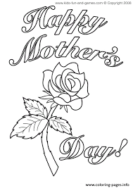 Print A Mother S Day Card Online Mothers Day Cards Rose Flower Coloring Pages Printable