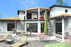 Plan De Villa Luxieuse ETERNA Vue Arriere