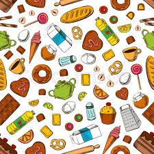 cooking utensils wallpaper. Fine Cooking Wallpaper With Pattern Of Breakfast Cookies Biscuits Cakes Coffee Tea  Ice Cream Cooking Utensils And Accessories Vector On Cooking Utensils C