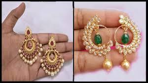 Chandbali Design Traditional Chandbali Earrings Designs Gold Chandbali Earring