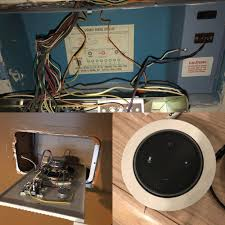 utilize in wall in home speaker system wiring to carry power for echoutilize