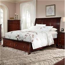king size bed with storage drawers. Cherry King-Size Bed With Sleigh Headboard \u0026 Drawer Storage Footboard. A Low King Size Drawers S