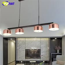 fumat modern designer rose gold lamps indoor lightings led lamparas colgantes living room light bedroom office pendant lamp modern pendant light living room