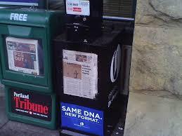 Boxgreen Vending Machine Impressive FileThe Oregonian Street Vending Box New Tabloid Format With The
