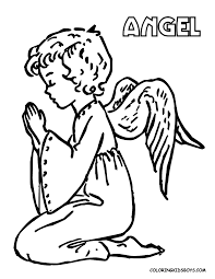 Christmas Angel Coloring Pages Angels Coloring