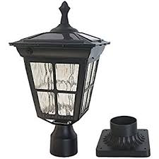 Kemeco ST4311AQ LED Cast Aluminum Solar Post Light Fixture with 3-Inch Fitter Base for 3