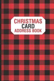 Christmas Card Mailing List Christmas Card Address Book Christmas Card Address Book