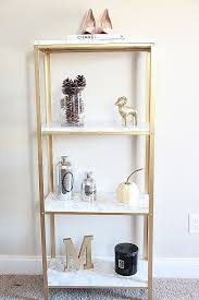 fabulous gold wall shelves 46 beautiful the easiest diy to glam your 14 99 ikea