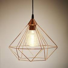 lighting cage. Tarbes Copper Coloured Cage Pendant Light Lighting