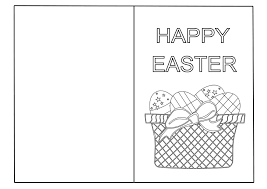 Easy Easter Coloring Pages Printable With Easter Coloring Cards