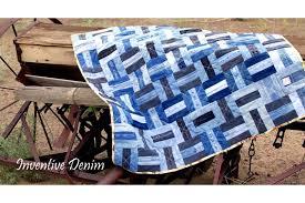 Make a Gorgeous Denim Quilt from Blue Jeans & Denim Quilt Ideas Adamdwight.com