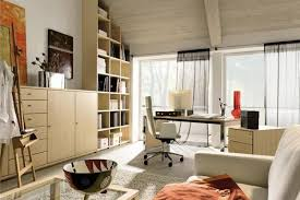 captivating furniture interior decoration window seats. Cozy Home Office Interior Decoration With Wooden Cabinet Bookshelves Desk Chair Table Sofa Rug Curtai Large Glass Window And Ceiling Ideas Wall Captivating Furniture Seats U