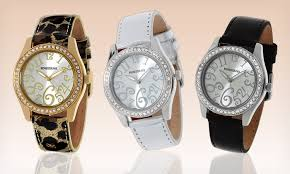 up to 96% off rousseau watches groupon rousseau men s and women s watches rousseau men s and women s watches metal cases up