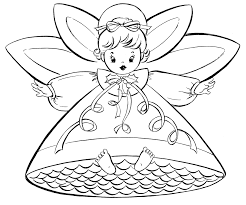 free christmas templates to print free christmas coloring pages retro angels the graphics fairy