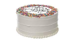 Classic Birthday Cake Baked