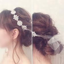 リボンカチューシャを使った可愛いブライダルヘア髪型まとめ Marry