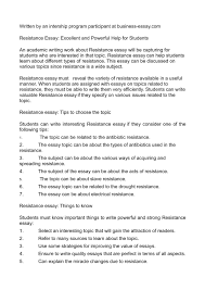 resistance essay excellent and powerful help for students
