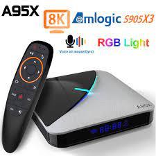 Buy Online A95X F3 Air TV Box Android 9.0 Amlogic S905X3 4G 64G 2.4G/5G  WIFI USB 3.0 8K Tvbox YouTube RGB Light Android TV Box A95XF3 Air ▻ Alitools