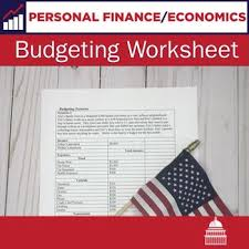Personal Finance Budget Worksheets Budgeting Worksheet Personal Finance