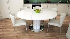 white gloss 4 6 seater extending dining table and dining chairs