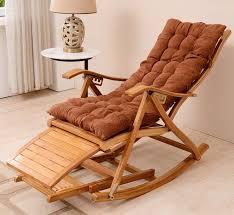 Modern <b>Rocking Chair Bamboo</b> Furniture Outdoor/Indoor Rocker ...