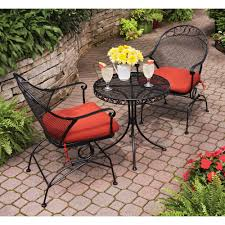 Dining Room Immaculate Patio Furniture With Cll Black Wrought
