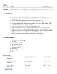 Example Electrician Resume Interesting Electrician Apprentice Resume Examples Nice Decoration Apprentice