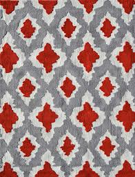 ethnic gray and red rug by pop accents red and grey rugby shirt