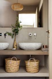 bathroom design styles. Unique Styles Organic Bathroom With Textured Basin And Belly Baskets And Bathroom Design Styles S