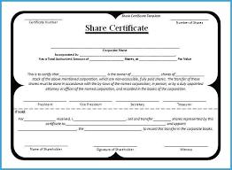 Corporate Certificate Template Corporate Stock Certificates Template Free Admirably
