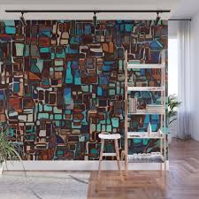 stained glass mosaic abstract wall
