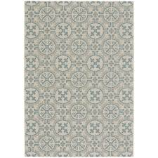 4 x 6 small spa blue indoor outdoor rug finesse tile