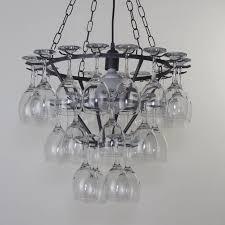 ceiling lights diy wine bottle chandelier kit rhinestone wine glasses mom wine glass big carl