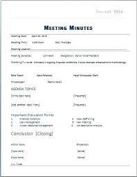 Meeting Minutes Template Free How To Write Meeting Minutes Template Free Secretary Minutes