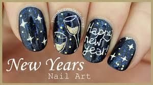 HAPPY NEW YEAR Nail Art - YouTube