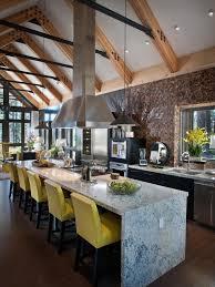 Kitchen Cabinets Industrial Kitchen Decor Waterfall Marble