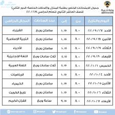 جدول الإمتحانات الخاص بطلبة المنازل و(الحالات الخاصة//والدور الثاني) ,  مرحلة ثانوية, الامتحانات, الفصل الثاني - ملفات الكويت التعليمية