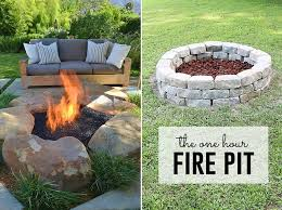 how to build a fire pit easy diy inexpensive firepit for backyard easy diy fire pit area l78 area